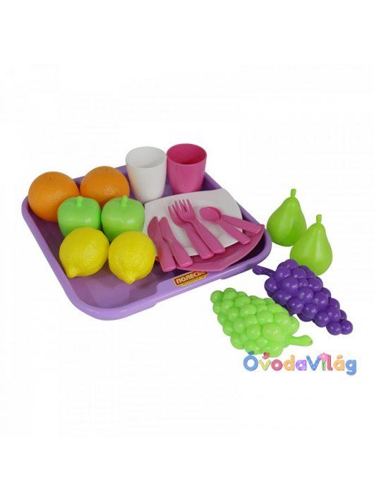 Játék élelmiszerkészlet 21db-os