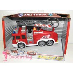 Tűzoltó autó tömlővel