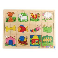 Felező puzzle-állatos