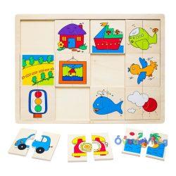Felező puzzle-járműves