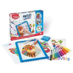 """Kreatív készségfejlesztő tábla, átlátszó, törölhető MAPED CREATIV """"Artist Board"""""""