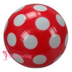 Pöttyös lakkozott labda 18cm