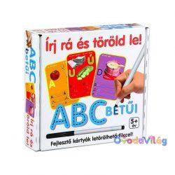 Írj rá és Töröld le-ABC betűi fejlesztő játék