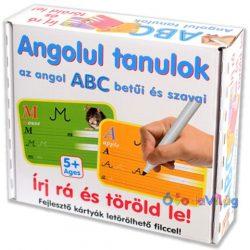 Angolul tanulok ABC-Írj rá Töröld le! Fejlesztő kártyák