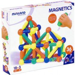 Mágneses építő, 36 db-os, műanyag, MINILAND -ovodavilag.hu
