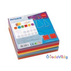 Logikai játék I. színes - gumis 15x15cm Miniland-ovodavilag.hu