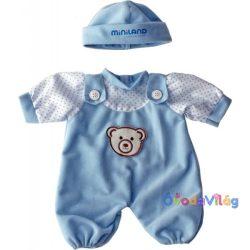 Babaruha - kék rugdalódzó sapkával, 21 cm-es babához, Miniland -ovodavilag.hu