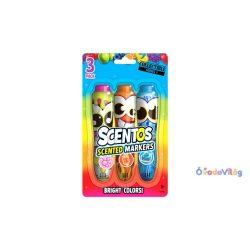 Scentos illatos filctoll készlet 3 db-os pink, narancs, kék
