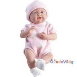 Élethű lány játékbaba rózsaszín ruhában berenguer-ovodavilag.hu