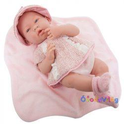 Élethű játékbaba rózsaszín ruhában-Berenguer-ovodavilag.hu