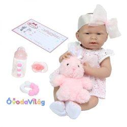 Újszülött játékbaba lány nyuszival-Berenguer