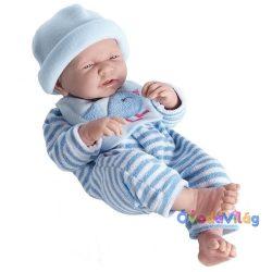 Berenguer játékbaba csíkos kék ruhában-ovodavilag.hu