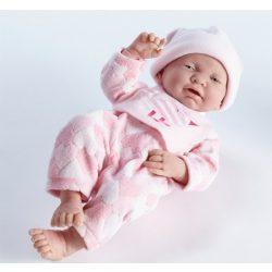 Újszülött játékbaba rózsaszín ruhában