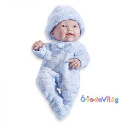 Élethű Játékbabák Berenguer - újszülött fiú kék kötött ruhában sapkával 24cm-ovodavilag.hu