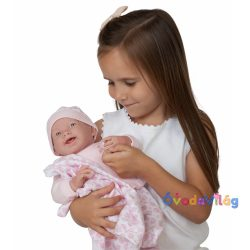 Berenguer élethű játékbaba rózsaszín pizsamában 39cm-ovodavilag.hu