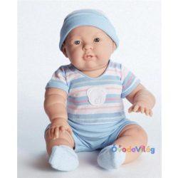 Berenguer Lucas játékbaba kék csíkos ruhában 46cm-ovodavilag.hu