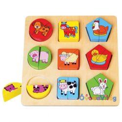 Háziállatos forma puzzle-ovodavilag.hu
