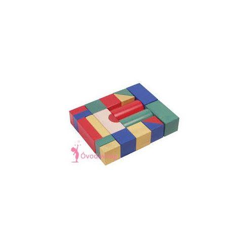 Építőkocka fából-5cm-es színes