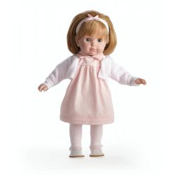 Carla hajasbaba rózsaszín ruhában