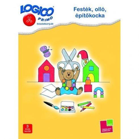 Logico Primo feladatkártyák - Festék, olló, építőkocka