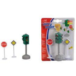 Közlekedési lámpa és tábla-Dickie Toys