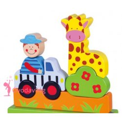 Mágneses puzzle- állatkert