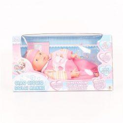 Újszülött baba rózsaszín ruhában