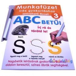 Munkafüzet letörölhető filccel - ABC betűi