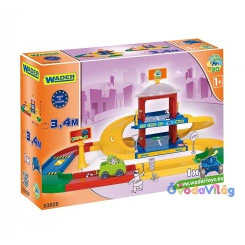 Wader Kids Cars 2 szintes garázs-ovodavilag.hu