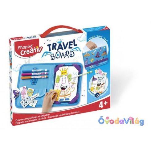 Kreatív készségfejlesztő, fehértábla, mágneses, törölhető utazótáskával-MAPED CREATIV