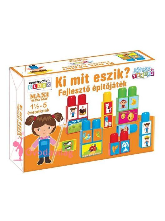 Játsz és Tanulj! Ki mit eszik fejlesztő építőjáték-D-toys