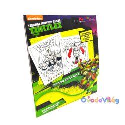 Tini Ninja Teknőc Szám szerinti színező Kiddo Books-ovodavilag.hu