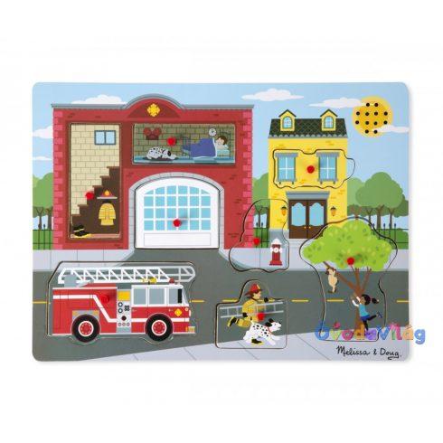 Melissa & Doug Hangos puzzle, Tűzoltóállomás - ovodavilag.hu
