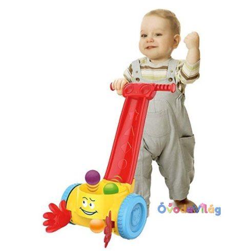 Járásra ösztönző tologatós labdás baba játék