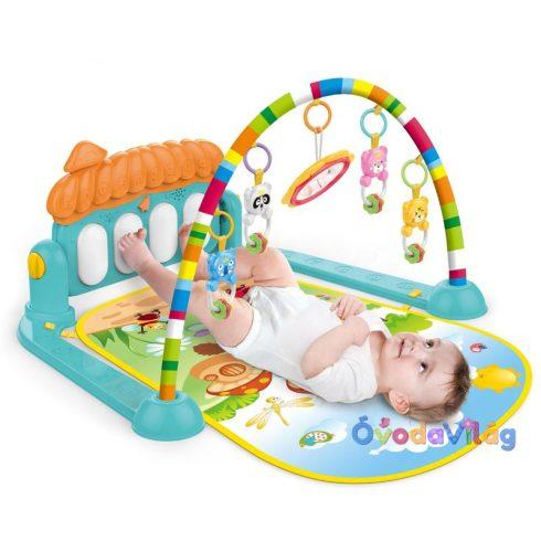 Játszószőnyeg babáknak bébitornázóval és zongorával