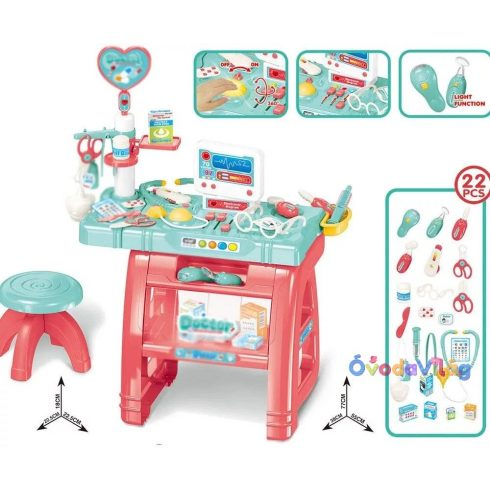 Orvosi játékasztal 22db-os kiegészítővel Medical Play Set