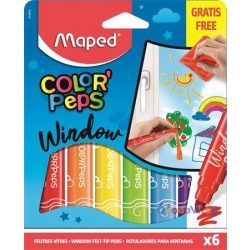 Ablakfilc készlet 6 színű Maped Color' Peps - ovodavilag.hu