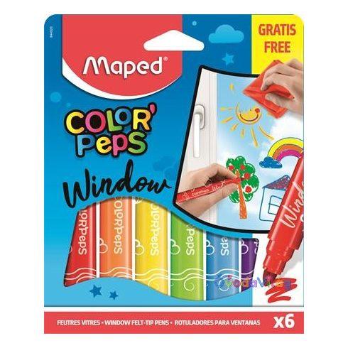 Ablakfilc készlet 6 színű Maped Color