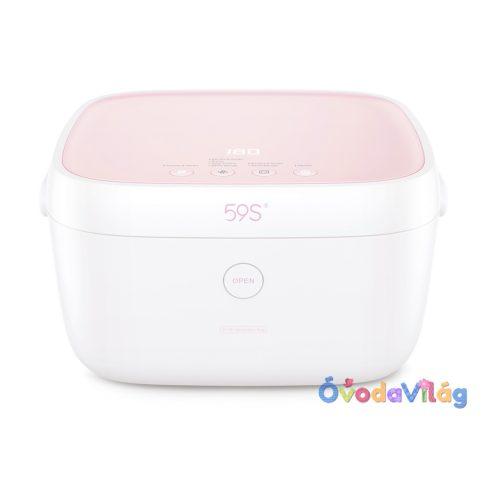 Sterilizáló doboz rózsaszín akkumulátorral 59S T5BAT UVC LED