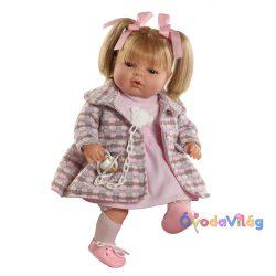 Maria sírós hajas baba rózsaszín ruhás-Berbesa
