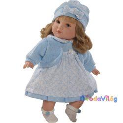 Berbesa Sandra beszélő baba kék ruhában