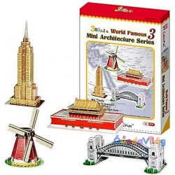 Cubicfun 3D puzzle-Világhírű épületek-ovodavilag.hu