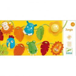 Fűzős játék-Dzsungel állatai-Djeco