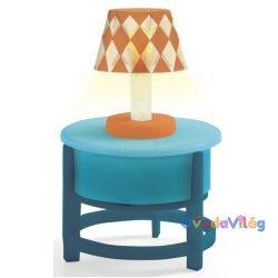 Asztalka lámpával babaház bútor-ovodavilag.hu