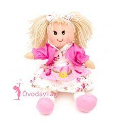Rongybaba rózsaszín ruhás