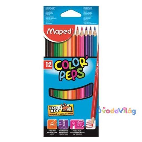 "Színes ceruza készlet 12db-os MAPED ""Color Peps"" háromszögletű - ovodavilag.hu"