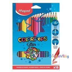 "Színes ceruza készlet 18db-os MAPED ""Color Peps"" háromszögletű - ovodavilag.hu"