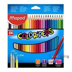 "Színes ceruza készlet 24db-os MAPED ""Color Peps"" háromszögletű - ovodavilag.hu"