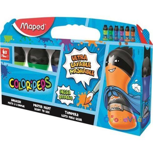 """Tempera 6db-os MAPED """"ultra-washable"""" 6x75 ml, másodlagos színek - ovodavilag.hu"""