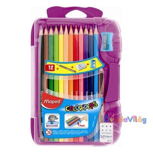 Színes ceruza készlet 12db-os MAPED Smart Box, kiegészítőkkel - ovodavilag.hu